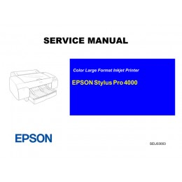 EPSON StylusPro 4000 Service Manual