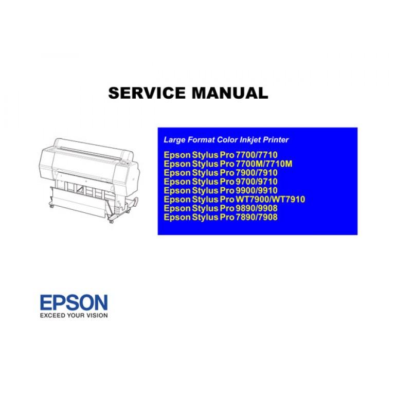 EPSON StylusPro/7890/7900/7700/9890/9900/9700 Service Manual