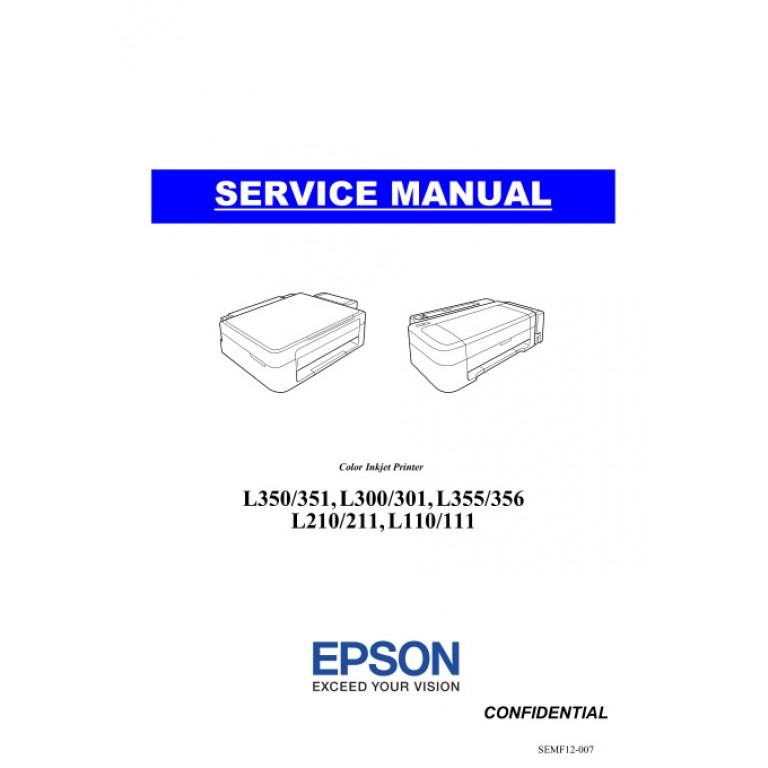 EPSON L110_111 L210_211 L300_301_350_351 L355_356 Service Manual