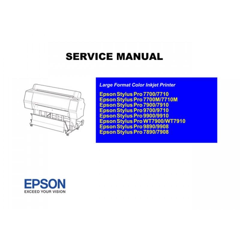 epson styluspro 7890 7900 7700 9890 9900 9700 service manual rh sdott parts com epson stylus pro 7600 service manual epson stylus pro 7600 repair manual