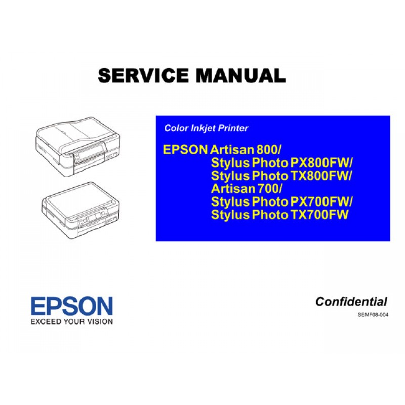 epson tx700fw tx800fw px700fw px800fw service manual rh sdott parts com Service Station Parts Manual