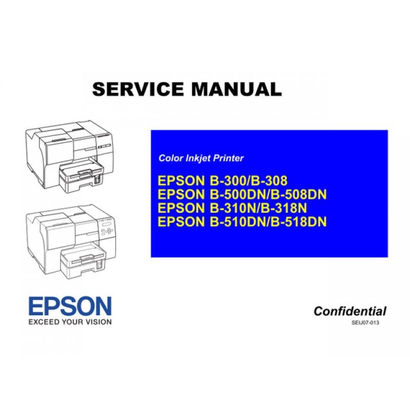 EPSON B310N B318N B510DN B518DN Service Manual