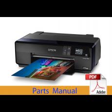EPSON SureColor P600 P607 P608 Parts Manual