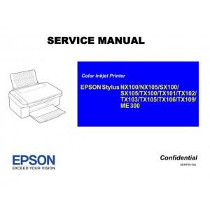 EPSON TX106_NX100_NX105 SX100_SX105 TX100_TX101_TX102_TX103_TX105_TX109_ME300 Service Manual