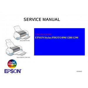 EPSON StylusPhoto 1290 1280 890 Service Manual