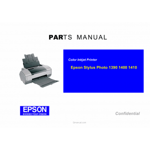 EPSON StylusPhoto 1390 1400 1410 Parts Manual