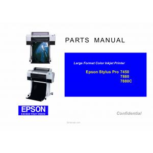 EPSON Stylus Pro 7880 7880C 7450 Parts Manual