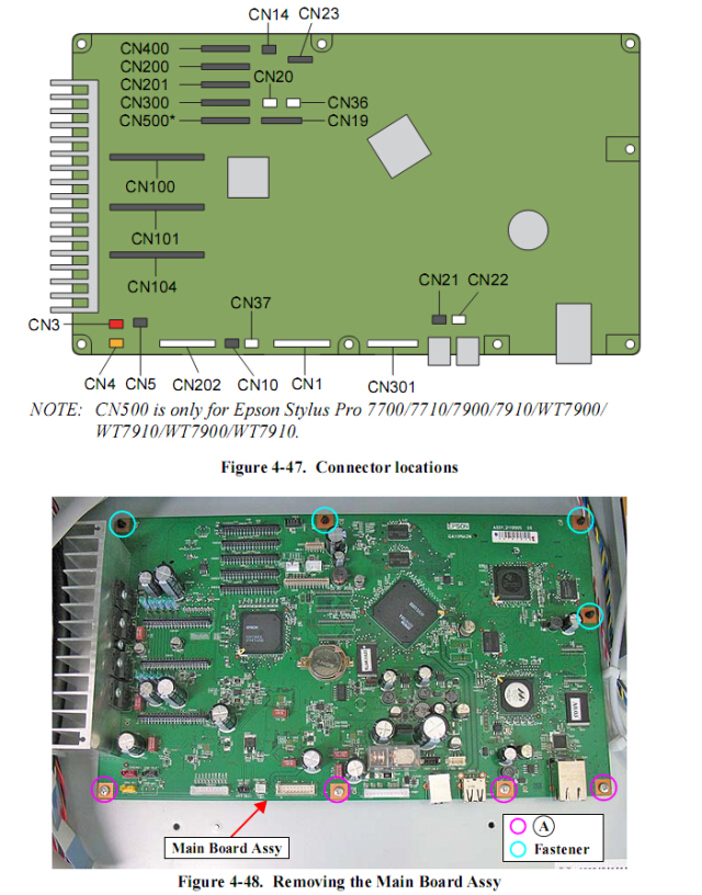 epson pro 7890 main board 2144297 epson 7890 service manual Epson 7890 Large Format Printer