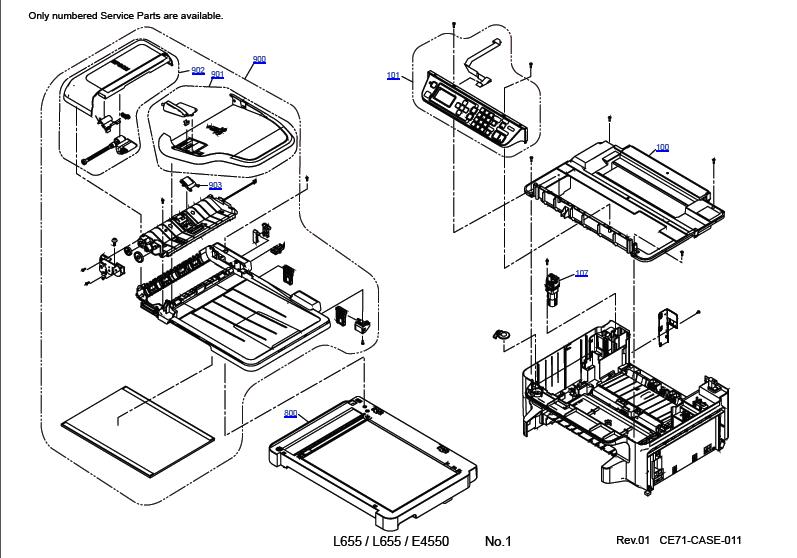 Epson L655 Parts Manual