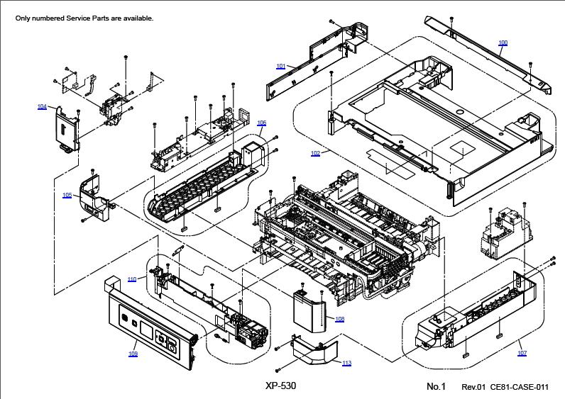 Epson Xp 530 Parts Manual